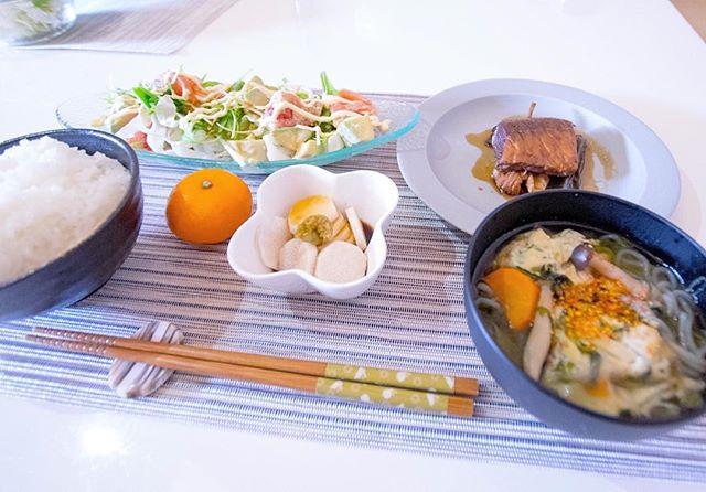 本日の社員食堂  #ぶりのアラ煮