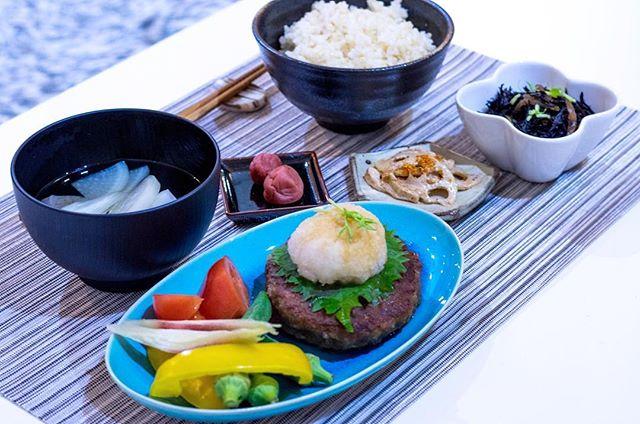本日の社員食堂 #和風ハンバーグ
