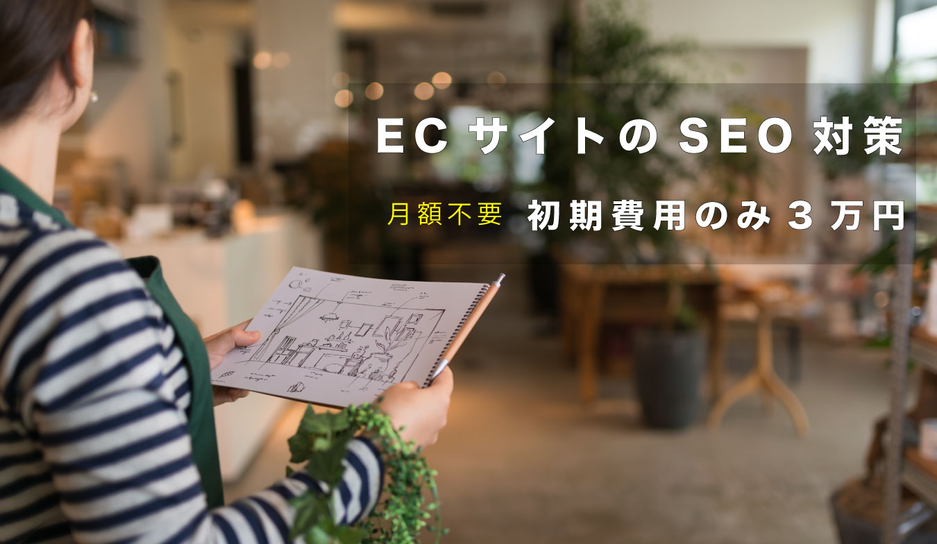 ECサイトの検索エンジン対策(SEO)を初期費用3万円で一括提供